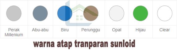 pilihan warna atap sunloid