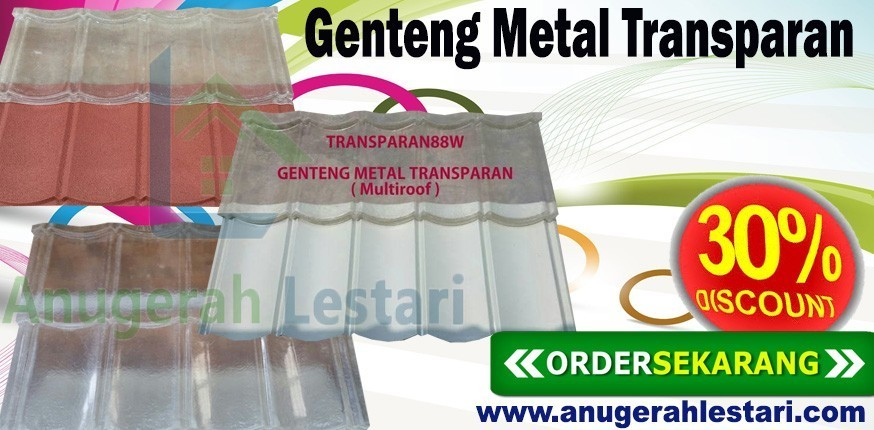 jual genteng metal transparan